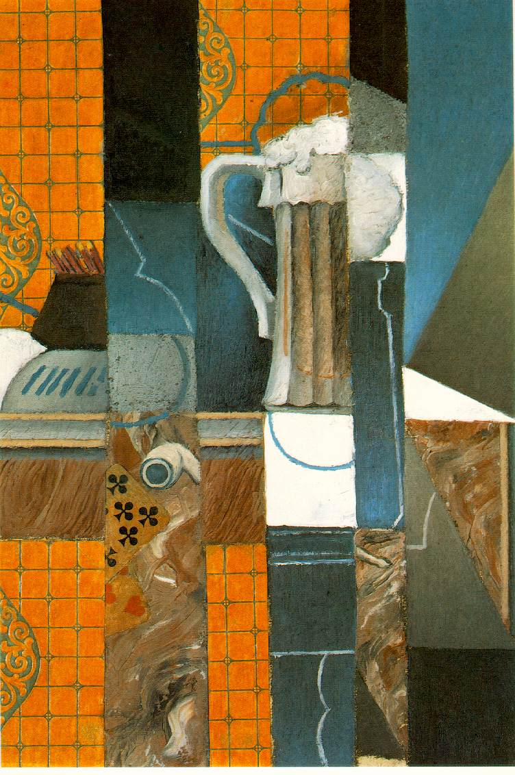 Juan Gris Gris Glass of beer and playing cards